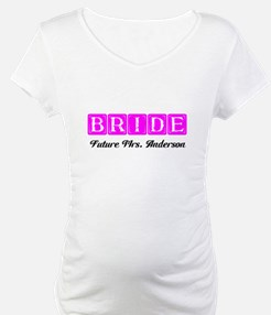 Hot Pink Bride Personalized Shirt