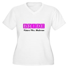 Hot Pink Bride Personalized Plus Size T-Shirt