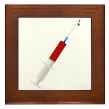Bloody Syringe Framed Tile