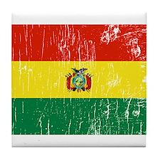 Vintage Bolivia Tile Coaster
