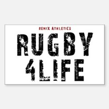 Rugby 4Life Rectangle Decal
