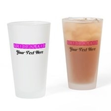 Pink Personalized Bridesmaid Drinking Glass