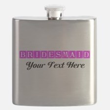 Pink Personalized Bridesmaid Flask
