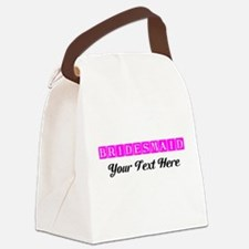 Pink Personalized Bridesmaid Canvas Lunch Bag