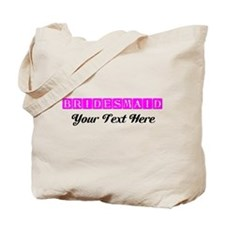 Pink Personalized Bridesmaid Tote Bag