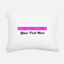 Pink Personalized Brides Rectangular Canvas Pillow