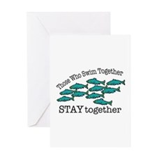 Swim Together Greeting Cards