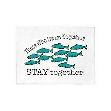 Swim Together 5'x7'Area Rug