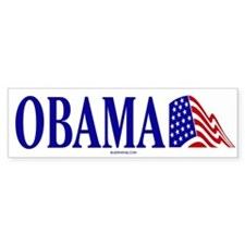Obama American Flag Bumper Bumper Sticker