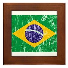 Vintage Brazil Framed Tile