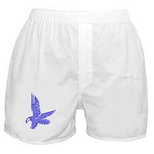 Abstract Blue Eagle Boxer Shorts