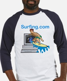 Surfing The Web Baseball Jersey