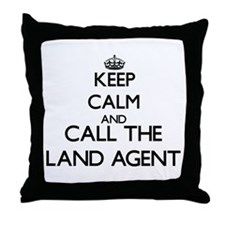 Cute Land agents Throw Pillow