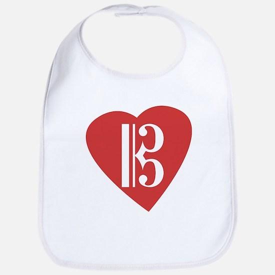Alto/Tenor Clef Heart Bib