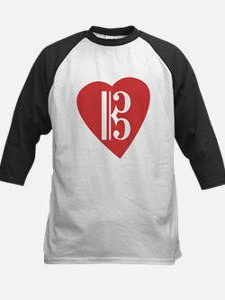 Alto/Tenor Clef Heart Kids Baseball Jersey