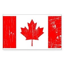 Vintage Canada Flag Rectangle Decal