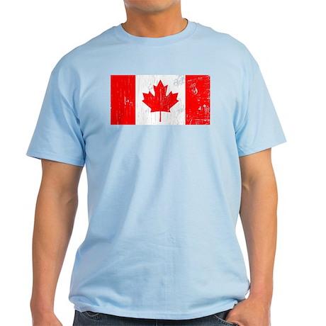 Vintage Canada Flag Light T-Shirt