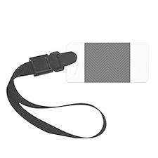 Gray White Chevron Stripes Pattern Luggage Tag