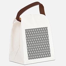 Gray White Triangle Geometrical Pattern Canvas Lun