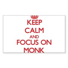 Keep Calm and focus on Monk Decal