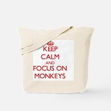 Cute I heart monkeys Tote Bag