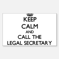 Keep calm and call the Legal Secretary Decal