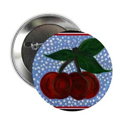 Cherry Jubilee Button