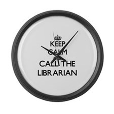 Cute Carry on and keep calm Large Wall Clock