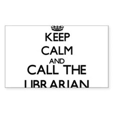 Keep calm and call the Librarian Decal