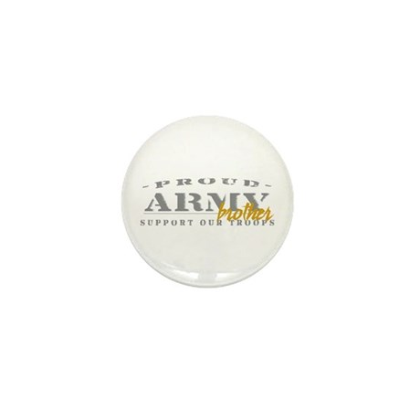 Proud Army Brother (gold) Mini Button