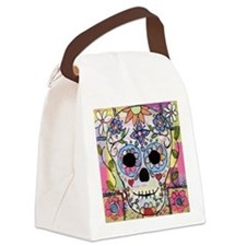 Cute Dia de los muertos Canvas Lunch Bag
