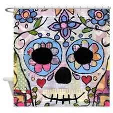 Funny Day of dead Shower Curtain