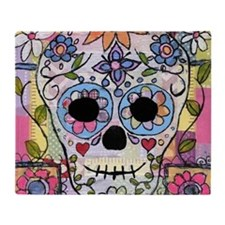 Cute Sugar skulls Throw Blanket