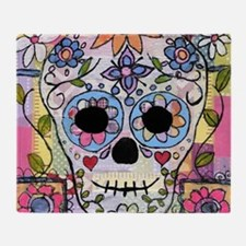 Funny Sugar skull Throw Blanket