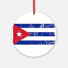 Vintage Cuba Ornament (Round)