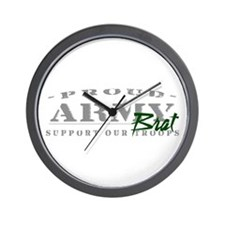 Proud Army Brat (green) Wall Clock