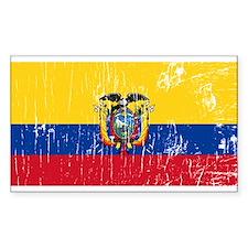 Vintage Ecuador Rectangle Decal