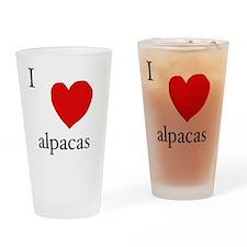 Love alpaca Drinking Glass