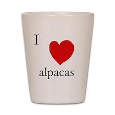 Love alpaca Shot Glass