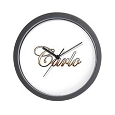 Gold Carlo Wall Clock