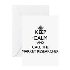 Keep calm and call the Market Researcher Greeting