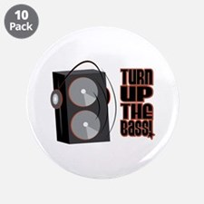 """Turn Up The Bass 3.5"""" Button (10 pack)"""