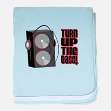 Turn Up The Bass baby blanket
