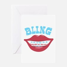 Braces Bling Greeting Cards