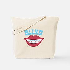 Braces Bling Tote Bag