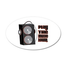 Play The Music Loud Wall Decal