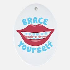 Brace Yourself Ornament (Oval)
