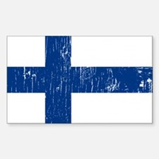 Vintage Finland Rectangle Decal