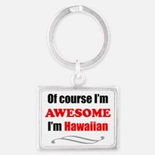 Hawaii Is Awesome Landscape Keychain