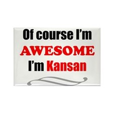 Kansas Is Awesome Rectangle Magnet